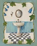 Bell Flower Bath II on Ivory Plakater af Silvia Vassileva