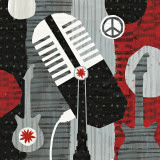Rock 'n Roll Mic Prints by Michael Mullan