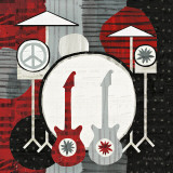 Rock 'n Roll Drums Posters van Michael Mullan
