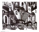 Konkav und Konvex Kunst von M. C. Escher