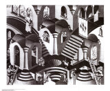 Concave and Convex Posters by M. C. Escher