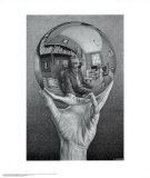 Hand with Globe Posters van M. C. Escher