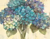 Turquoise Hydrangea Prints by Albena Hristova