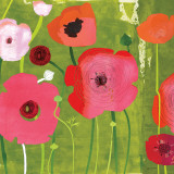 Ranunculus on Green Poster by Susy Pilgrim Waters