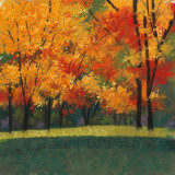 Bright Autumn Day I Art by Lynn Krause