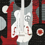 Rock 'n Roll Guitars Prints by Michael Mullan