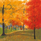 Bright Autumn Day II Print by Lynn Krause