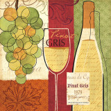 Wine and Grapes II Prints by Veronique Charron