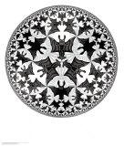 Cirkelgräns IV Posters av M. C. Escher