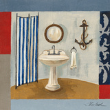 Nautical Bath I Art by Silvia Vassileva