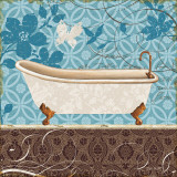 Eco Motif Bath I Print by Lisa Audit