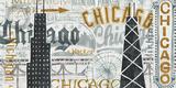 Hey Chicago Vintage Poster von Michael Mullan