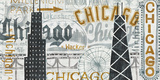 Hey Chicago Vintage Posters by Michael Mullan