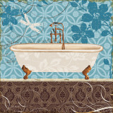 Eco Motif Bath II Art by Lisa Audit