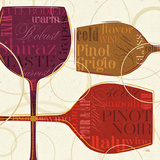 Colorful Wine II Print by  Pela
