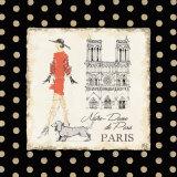 Ladies In Paris IV Print by Avery Tillmon