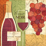 Wine and Grapes I Posters by Veronique Charron