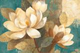 Turquoise Magnolias Prints by Albena Hristova