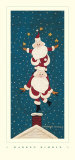 Juggling Santas Posters by Warren Kimble