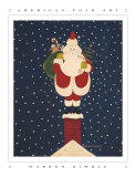 Chimney Santa Prints by Warren Kimble