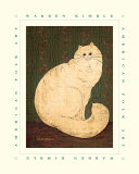 White Persian Cat Print by Warren Kimble