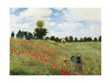 Coquelicots Prints by Claude Monet