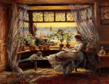 Reading by the Window Hastings Affiches par Charles James Lewis