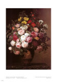 Pink Roses in a Vase Prints by Johan Laurentz Jensen