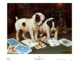 Poker Posters by George Derville Rowlandson