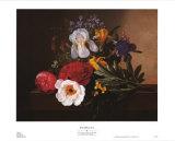 White Iris Print by Johan Laurentz Jensen