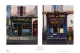 Parisian Bistros Posters by Yuri Dvornik