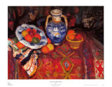 Citrus with Blue Pottery Prints by Charles Camoin