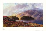 Sicht von der Hütte Kunstdruck von Charles Stuart