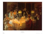 End of Dinner Prints by Jules-Alexandre Gr&#252;n