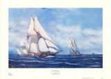 Yacht Race Prints by Antonio Jacobsen