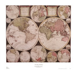 Atlas Major World Map Posters by  Dutch