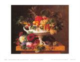 Griechische Schale mit Obst Poster von Johan Laurentz Jensen