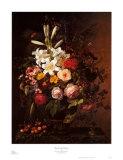 Blumen und Kirschen Poster von Johan Laurentz Jensen