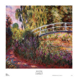Japanese Bridge Art by Claude Monet