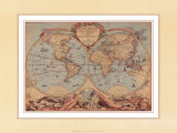 World Map from 18th Century Art by  Bourgoin