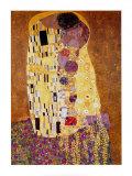 Kysset, ca. 1907 Plakat av Gustav Klimt