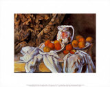 Still Life with Curtain and Pitcher Print by Paul Cézanne