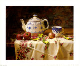 Apples and Tea Prints by Del Gish