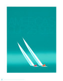 Duel ('92-blue America's Cup) Prints by Keith Reynolds