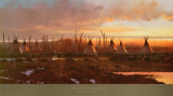 Blackfeet Camp Posters by Michael Coleman