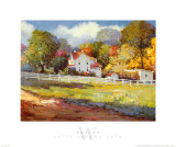 Early Autumn Farm Print by Kent Wallis