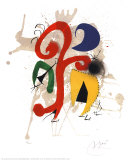 Abstract Print by Joan Miró