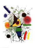 The Singer Kunstdrucke von Joan Mir&#243;