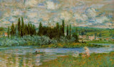The Seine River Print by Claude Monet