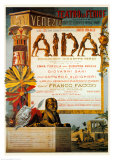 Verdi, Teatro La Fenice, Aida Posters